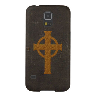 Old Leather Print Cross Galaxy S5 Cases