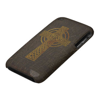 Old Leather Print Cross iPhone 3 Cover
