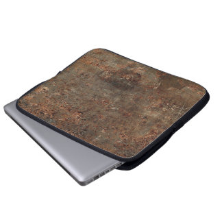 Old Leather Print Laptop Computer Sleeve