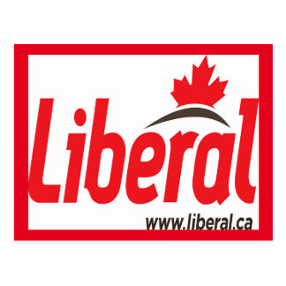 Old Liberal Party Logo Postcard