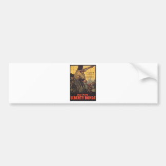 "Old ""Liberty Bonds""  U.S. War Poster c. 1918 Bumper Sticker"