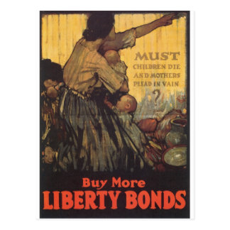 "Old ""Liberty Bonds""  U.S. War Poster c. 1918 Postcard"