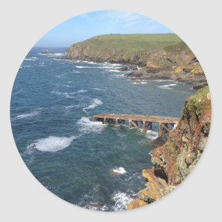 Old Lifeboat Ramp, Lizard Peninsula, Cornwall Classic Round Sticker