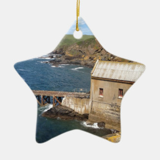 Old Lifeboat Station, Lizard Peninsula, Cornwall Ceramic Star Decoration