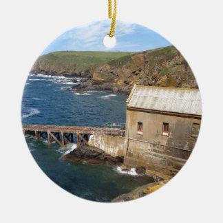 Old Lifeboat Station, Lizard Peninsula, Cornwall Christmas Ornament