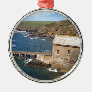 Old Lifeboat Station, Lizard Peninsula, Cornwall Silver-Colored Round Decoration