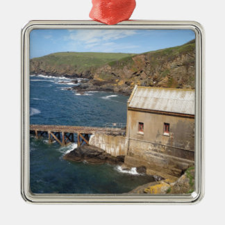 Old Lifeboat Station, Lizard Peninsula, Cornwall Silver-Colored Square Decoration