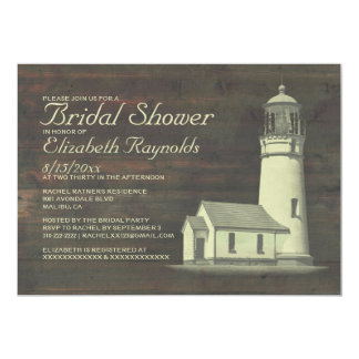 Old Lighthouse Bridal Shower Invitations