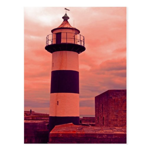 old lighthouse post card