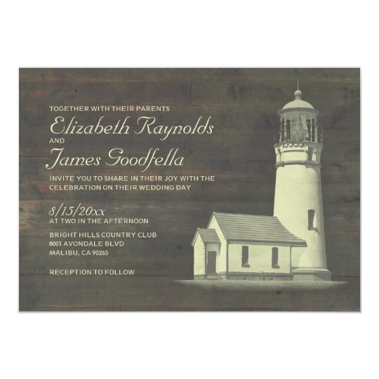 Old Lighthouse Wedding Invitations