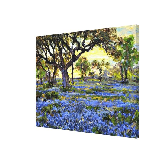 Old Live Oak Tree and Bluebells - Onderdonk
