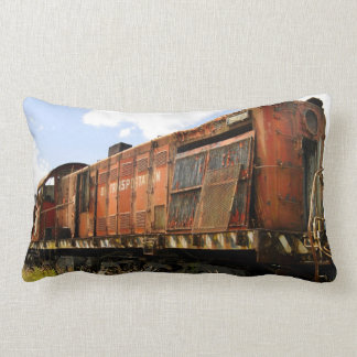 Old Locomotive stands retired and rusted Throw Cushion