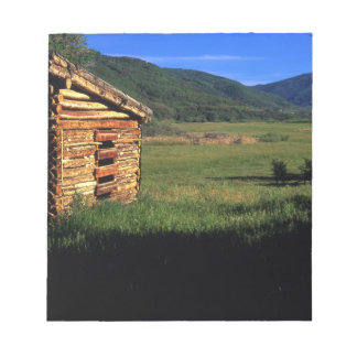 Old log homestead near Park City, Utah. (P.R.) Notepad