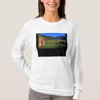 Old log homestead near Park City, Utah. (P.R.) T-Shirt