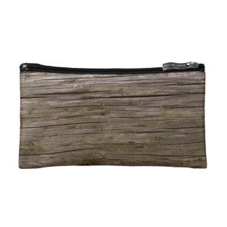 Old log texture makeup bag