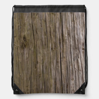 Old log texture drawstring backpacks