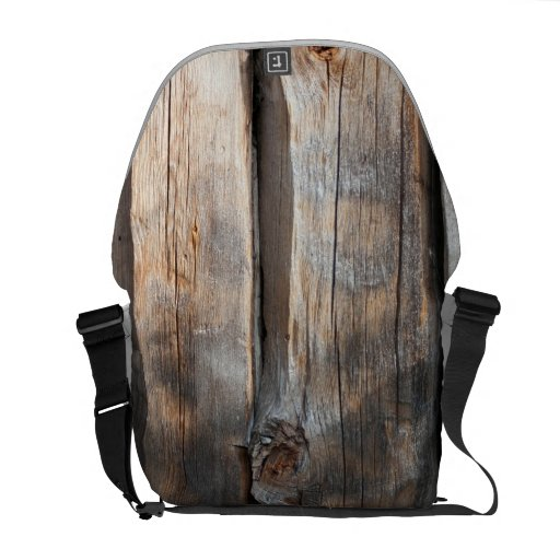 Old Log Wall 3 Courier Bag