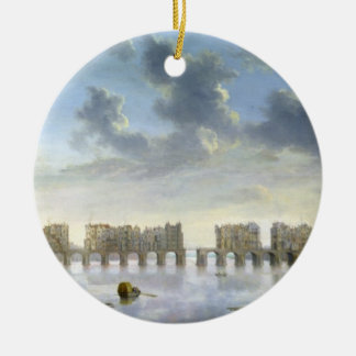 Old London Bridge (oil), c.1630 Christmas Ornament