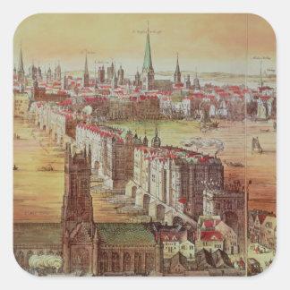 Old London Bridge Square Sticker