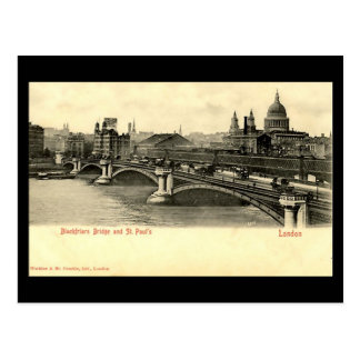 Old London Postcard - Blackfriars Bridge
