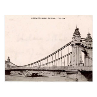 Old London Postcard - Hammersmith Bridge