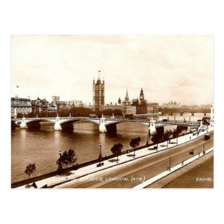 Old London Postcard - Lambeth Bridge