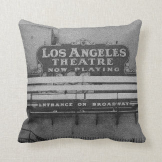 Old Los Angeles Theatre Sign Throw Pillows