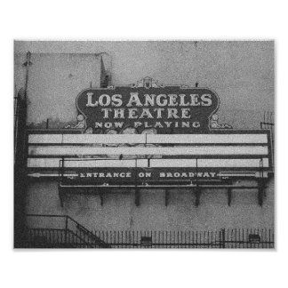Old Los Angeles Theatre Sign Photo Print
