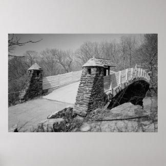 Old Lyme Foot Bridge Photo Poster
