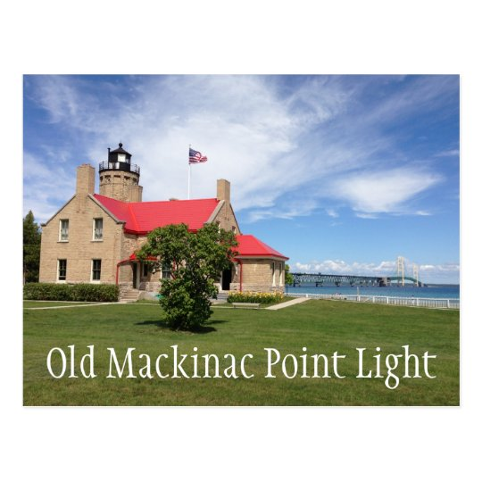 Old Mackinac Point Light Postcard