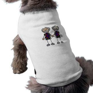 Old Male Lovers Sleeveless Dog Shirt