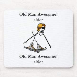 Old Man Awesome! skier Mouse Mat