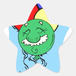Old Man Birthday Star Sticker