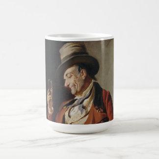 Old Man Drinking Beer Painting Basic White Mug