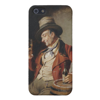 Old Man Drinking Beer Painting iPhone 5/5S Case