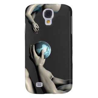 Old Man Giving Earth to a Child as a Conservation Galaxy S4 Case