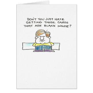 Old man grumpy blank greeting card