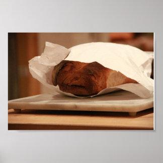 Old Man Italian Bread Poster
