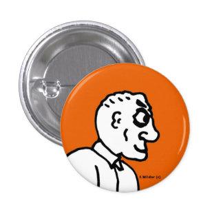 Old Man on orange field 3 Cm Round Badge