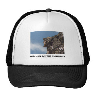 Old Man On The Mountain (Optical Illusion) Hats