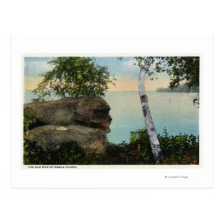 Old Man Rock Formation of Eagle Island View Postcard