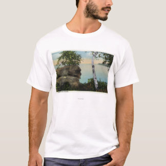 Old Man Rock Formation of Eagle Island View T-Shirt