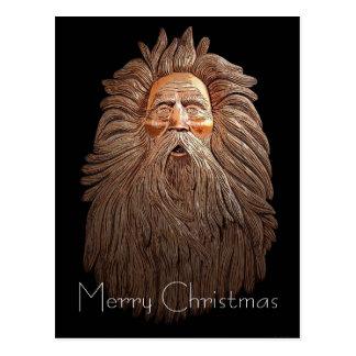Old Man Santa Postcard