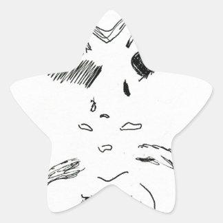 Old Man Squinty Eye Star Sticker