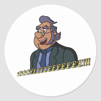 Old Man Sticker, Glossy Classic Round Sticker