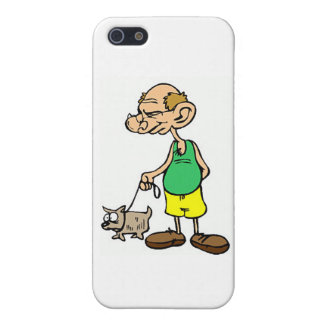 Old Man Walking the Dog Case For The iPhone 5