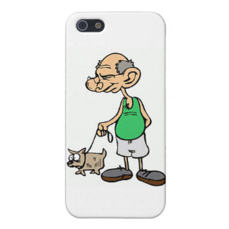 Old Man Walking the Dog Cover For iPhone 5/5S