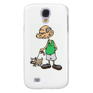 Old Man Walking the Dog Galaxy S4 Case