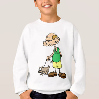 Old Man Walking the Dog Sweatshirt