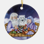 Old Man Winter and Jack Frost Play Chess Ornamnent Christmas Ornament